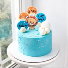 Торт новорожденному мальчику