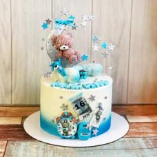 Торт на рождение с фотопечатью