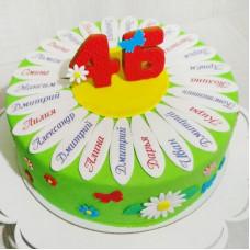 Именной торт на выпускной 4 класс