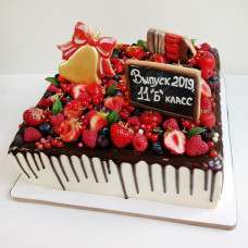 Торт на день рождения школы