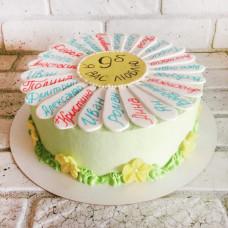 Торт ромашка на выпускной