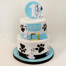 Торт 101 далматинец на день рождения