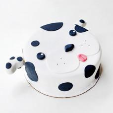 Торт в виде далматинца