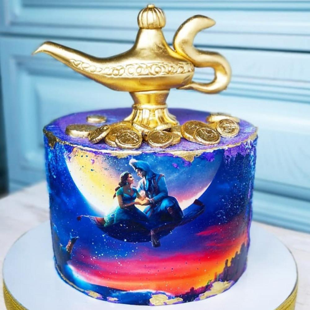 Торт в виде Ламы Аладдины