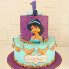 Торт с принцессой Жасмин на 1 год девочке