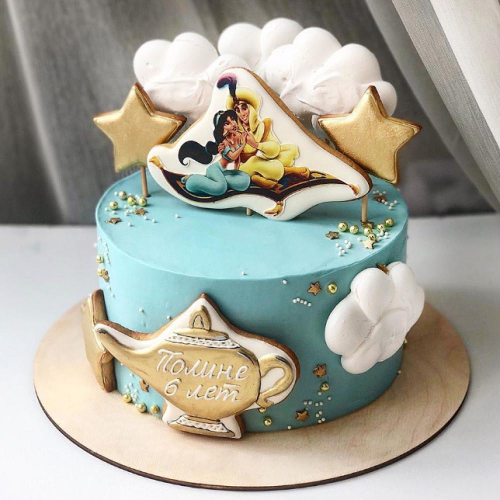 Торт с картинкой Алладина для девочки 6 лет