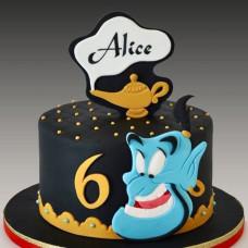 Торт с головой Джинна на 6 лет