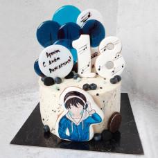Торт аниме на день рождения