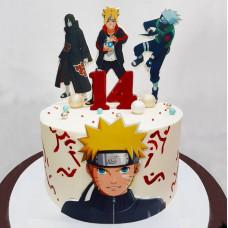 Торт с аниме героями