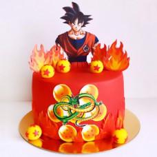 Торт Гоку на день рождения