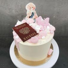 Торт Аниме на получение паспорта