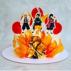 Торт с Аниме для девочек
