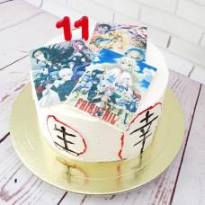 Торт с журналами Аниме