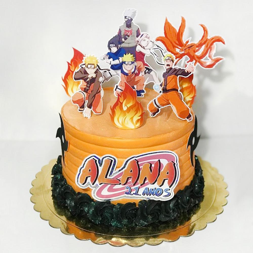 Торт Наруто с командой