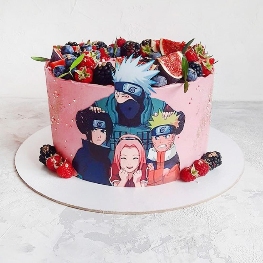 Торт с героем Итачи из Аниме
