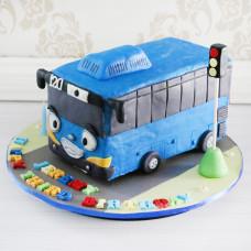 Торт в виде автобуса Тайо