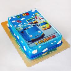Торт автобус Тайо для мальчика