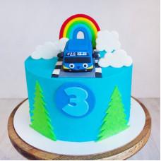 Торт синий автобус Тайо