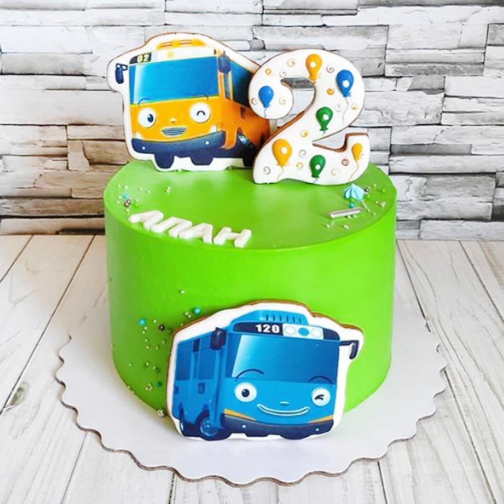 Торт Тайо маленький автобус