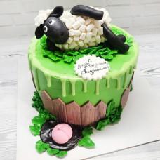 Торт овечка Шон