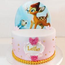 Детский торт с Бэмби