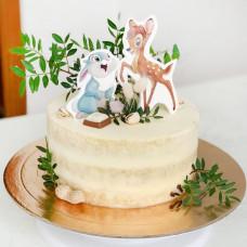 Торт Бэмби и зайка