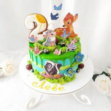 Торт Бемби на 2 годика