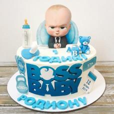 Торт на 1 год мальчику Босс молокосос