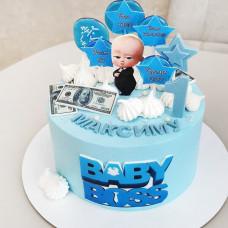 Торт на год мальчику Босс молокосос