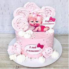Торт 1 год у власти для девочки