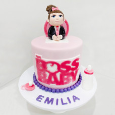 Торт на 1 год девочке Босс молокосос