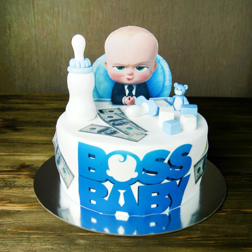 Торт на 1 годик Босс молокосос