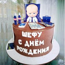 Торт шефу в стиле Босс-молокосос