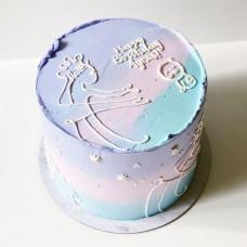 Торт душа без мастики