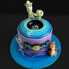 Торт с главными героями мультика Душа