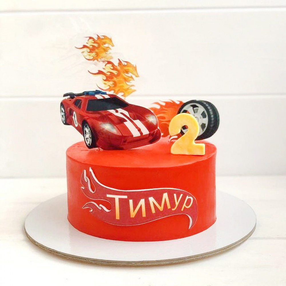Торт с Хот Вилс для мальчика