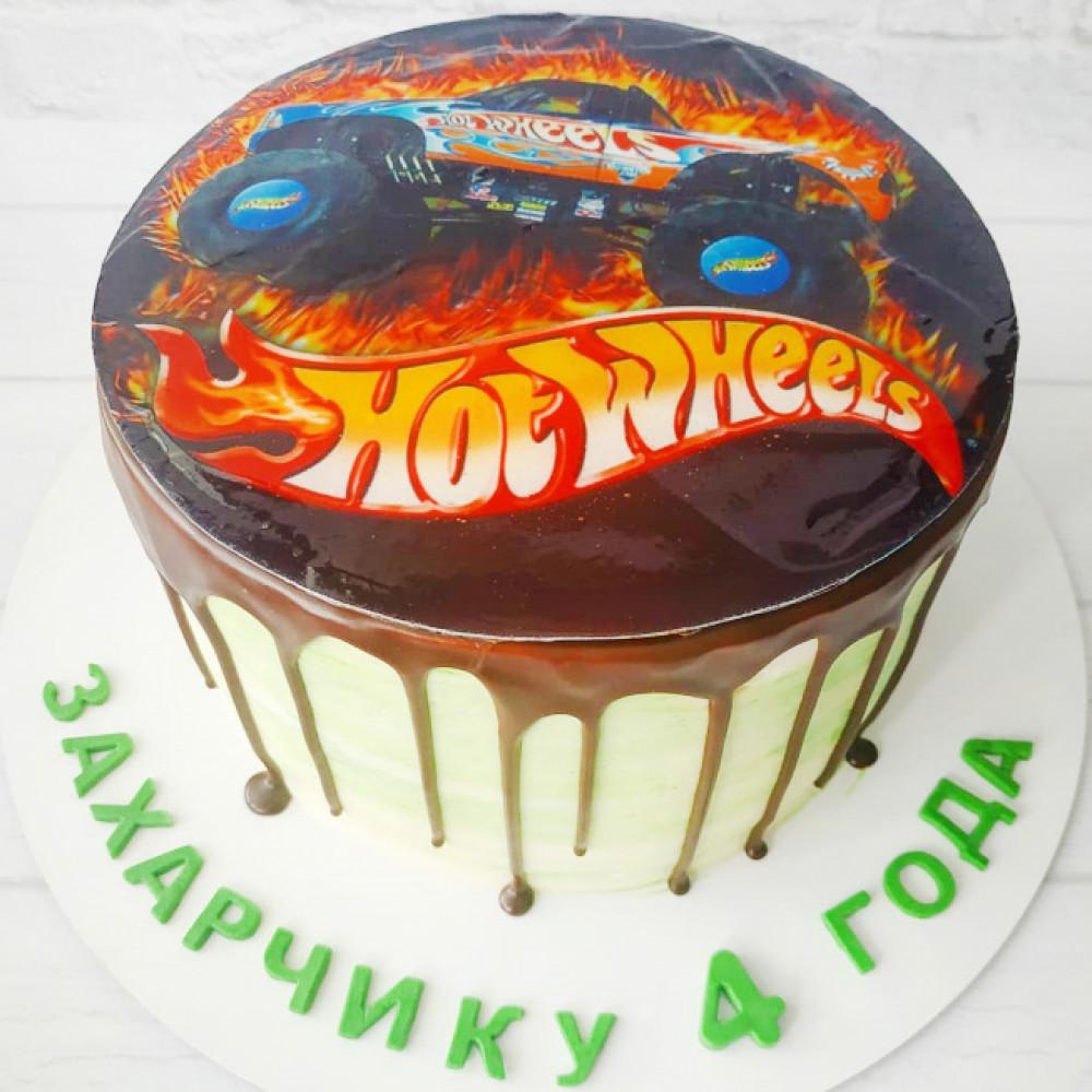 Торт Хот Вилс с фотопечатью