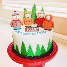 Торт Южный Парк на день рождения