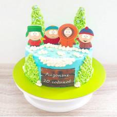 Торт c героями из South Park