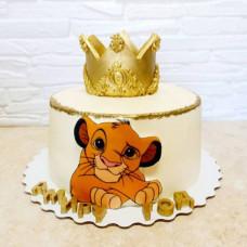 Торт с Симбой на годик