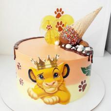 Торт Симба Король лев для мальчика