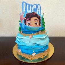 Торт в морском стиле с Лукой