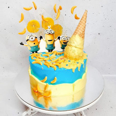 Торт в стиле миньонов