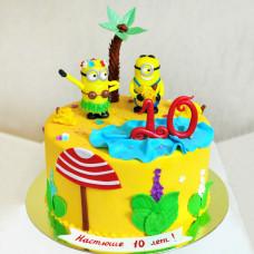 Торт на день рождения Миньоны