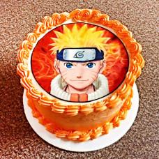 Торт с рисунком Наруто