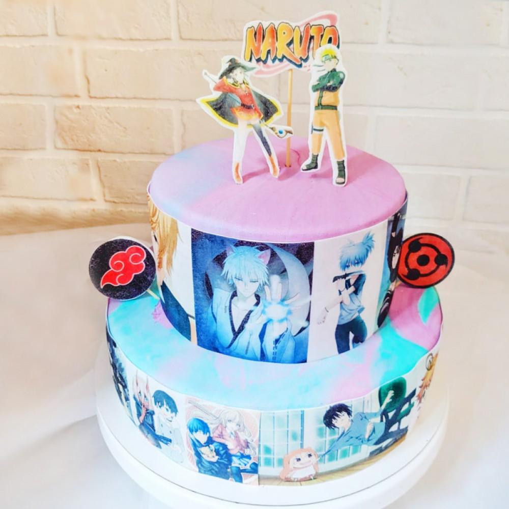 Торт с Наруто для девочки
