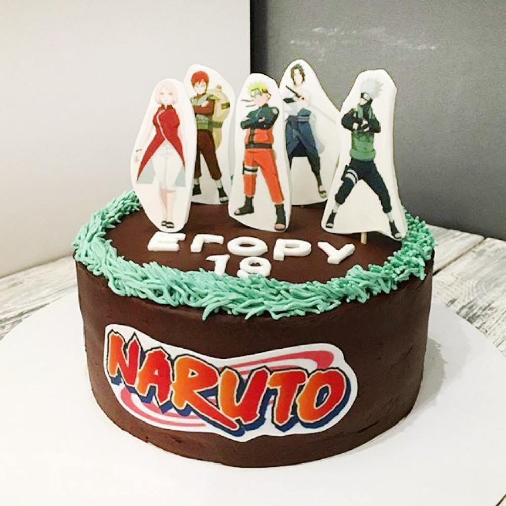 Торт с персонажами Наруто