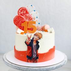 Торт Наруто на 15 лет