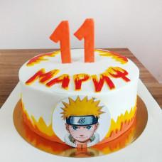 Торт на 11 лет с Наруто для мальчика