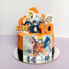 Красивый торт с Наруто